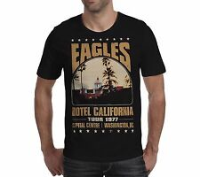 THE EAGLES HOTEL CALIFORNIA Tour 1977 unisex T Shirt Live S M L XL XXL 2xl music