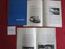 N°4883 / AUDI  NSU  catalogue en français historique + informations 1967-70