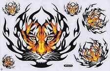 N-408 Tiger Wild Aufkleber Sticker 1 Bogen 27 x 18 cm Racing Tuning