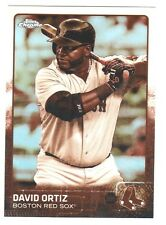 2015 Topps Chrome SEPIA REFRACTOR #124 DAVID ORTIZ Boston Red Sox QTY Available