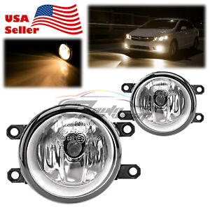 Pair Fog Light Clear Lens Replacement OEM Grade For 2009-2013 Toyota Venza T4