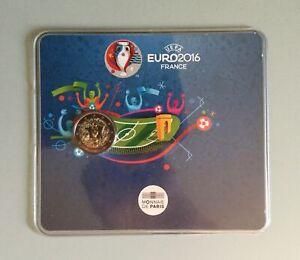 COINCARD BU 2 EURO COMMEMORATIVE FRANCE 2016 EURO UEFA FRANKREICH FRANCIA