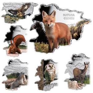 Andorra - 60 Dinar 2013 - Wildlife - Satz - 6 Werte - 6 x 1 Oz Silber PP