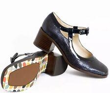 Orla Kiely Clarks, Amelia Blue Sparkle Shoes Size 5, EUR 38, Vintage Style