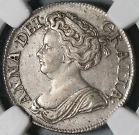 1711 NGC XF Det Anne Shilling Great Britain Silver Coin (20072802C)