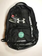 648263a7e6 Under Armour Team Hustle Storm Joe Namath March of Dimes Backpack NWT Black