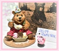 ❤️Wee Forest Folk BB-07 Party Time Birthday Bear Ice Cream Red Pants 1996 WFF❤️