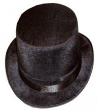 FANCY DRESS NEW BLACK TALL TOP HAT ADULT MAGICIAN VICTORIAN LINCOLN RINGMASTER!