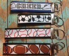 Baseball Key Fob, soccer, football, cheerleader Key Wristlet Fobs, Key chains,
