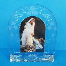 Mikasa Slovenia Crystal Glass Archway Picture Frame - Wedding Shower Gift NEW!