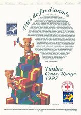 Document Philatélique Timbre 1er Jour : 06/11/ 1997 - Croix Rouge Fêtes