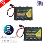 GeiLienergy 2x 6.0V 2000mAh Flat Receiver RX NiMH Battery Pack  For RC Aircraft