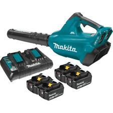 Makita Leaf Blower Kit Lithium Ion Brushless Cordless 4 Batteries 120 Mph 473Cfm