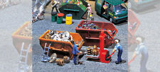 FALLER HO scale ~ RUBBISH SKIPS ~ PLASTIC MODEL KITSET #180908 suit model train