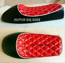 Sella Moto Cafe Racer Scrambler Custom Universale Nera Rossa 1° Qualità' S135