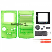Full Housing Shell Replacement Part for Nintendo Game Boy Color GBC Clear Green