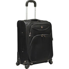 "Travelers Club Luggage D-Luxe 21"" Expandable Spinner Softside Carry-On NEW"
