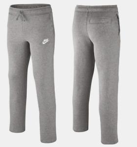 NIKE Big Boys Sportswear Fleece Pants Sizes: S, L Light Grey 805496 063