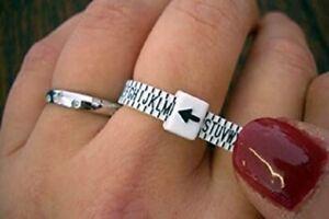 UK Ring Sizer Measure Finger Gauge For Wedding Ring Band Engagement Ring