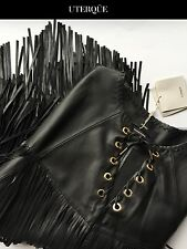 NWT Luxury Nappa Fringed UTERQUE by ZARA Cape Poncho RRP450€