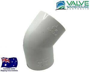 "45 Degree Elbow Socket - Pressure PVC - 15mm (1/2"") - 150mm (6"")"