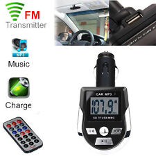 Wireless FM Transmitter Modulator USB Charger Car Kit MP3 Player SD With Remote