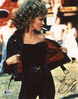 OLIVIA NEWTON JOHN SIGNED AUTOGRAPHED 8x10 PHOTO SANDY GREASE RARE BECKETT BAS