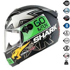 Caschi verde Shark per la guida di veicoli