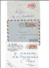 AFRICA(Senegal)-3 covers(1951)- from 2 locations to Paris- Dakar & - - - - IES?