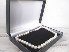 AA Quality Near Round Freshwater Pearl Necklace with 925 Sterling Silver