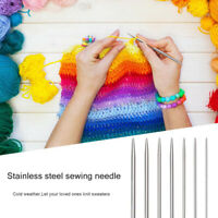 4pcs/set 25cm Stainless Steel Straight Knitting Needles For Crochet Sewing Tool