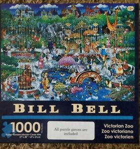 """Bill Bell, 1000 Pc.  Puzzle - VICTORIAN ZOO, 27"""" X 20"""","""