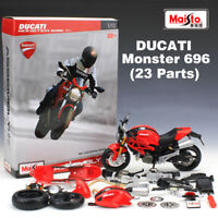 1:12 Scale Ducati Monster 696 Motorcycle DIY Kit Die-Cast Metal Model Assembly