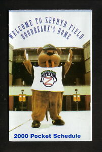 New Orleans Zephyrs--2000 Pocket Schedule--Winn Dixie--Astros Affiliate