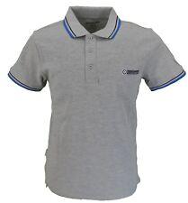 Lambretta Grey/Royal/Navy Retro 100% Cotton Polo Shirt