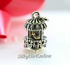 Authentic Pandora Sterling Silver &14K Gold Song Bird Bead 791114