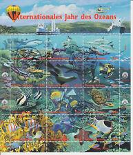 UN Wien Block 9 gest.Ersttag+Zus.druckbg. Internat. Jahr des Ozeans`68 gest.Erst