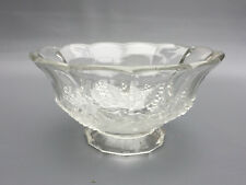Antique pressed glass salad bowl, FROSTED GRAPE, 1880's 1890's