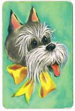 Stardust Cairn Terrier Dog Miniature Playing Cards Deck Vintage
