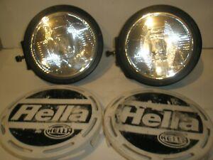 "HELLA 12 V RALLYE 4000 8.8"" ROUND METAL 55 W FOG LIGHT LAMPS"