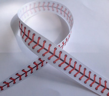 "Baseball Stitching inspired 7/8"" Grosgrain Ribbon - By The Yard - USA Seller"