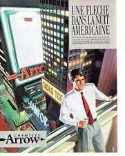 Publicité Advertising 068  1983   chemise homme Arrow nuit americaine