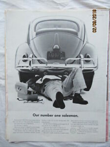 Vintage 1961 Original Magazine Ad Print Our Number 1 Salesman Volkswagen VW