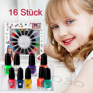 Nagellack Schmink-Set Make-up Set 16 tlg. Beauty Set Kinder Geschenkset Set