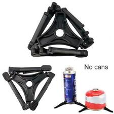 Foldable Outdoor Camping Gas Tank Stove Cartridge Canister Tripod FM Stand W3C0