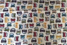 Pottery Barn Kids Automobiles & Taxi Queen Flat Sheet - 100% Cotton