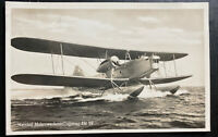 1941 Hersfeld Fieldpost Germany RPPC Postcard cover to Offenbach Seaplane HE 59