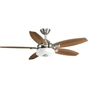 Progress Lighting Graceful Ceiling Fans in Brushed Nickel - P2544-0930K