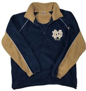 Vintage Notre Dame Mens Sweater - Fighting Irish Russell Athletic - Zip Sweater