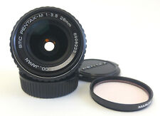 Asahi SMC PENTAX-M 28mm f/3.5 MF Wide Angle Lens K Mount VGC + Skylight Filter